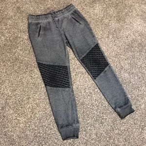 Massimo Distressed Black Sweatpants